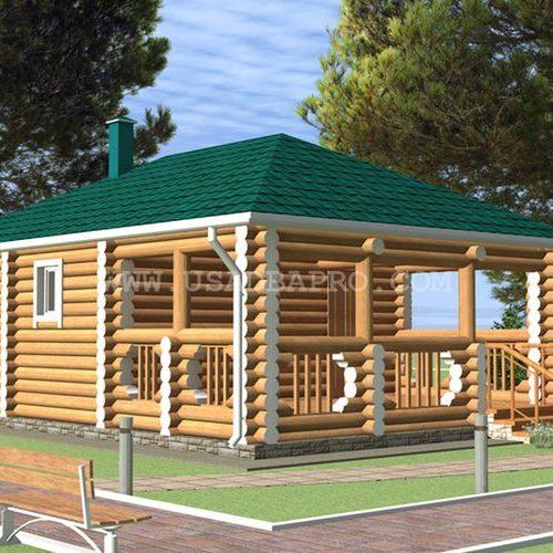 Готовый проект деревянной бани